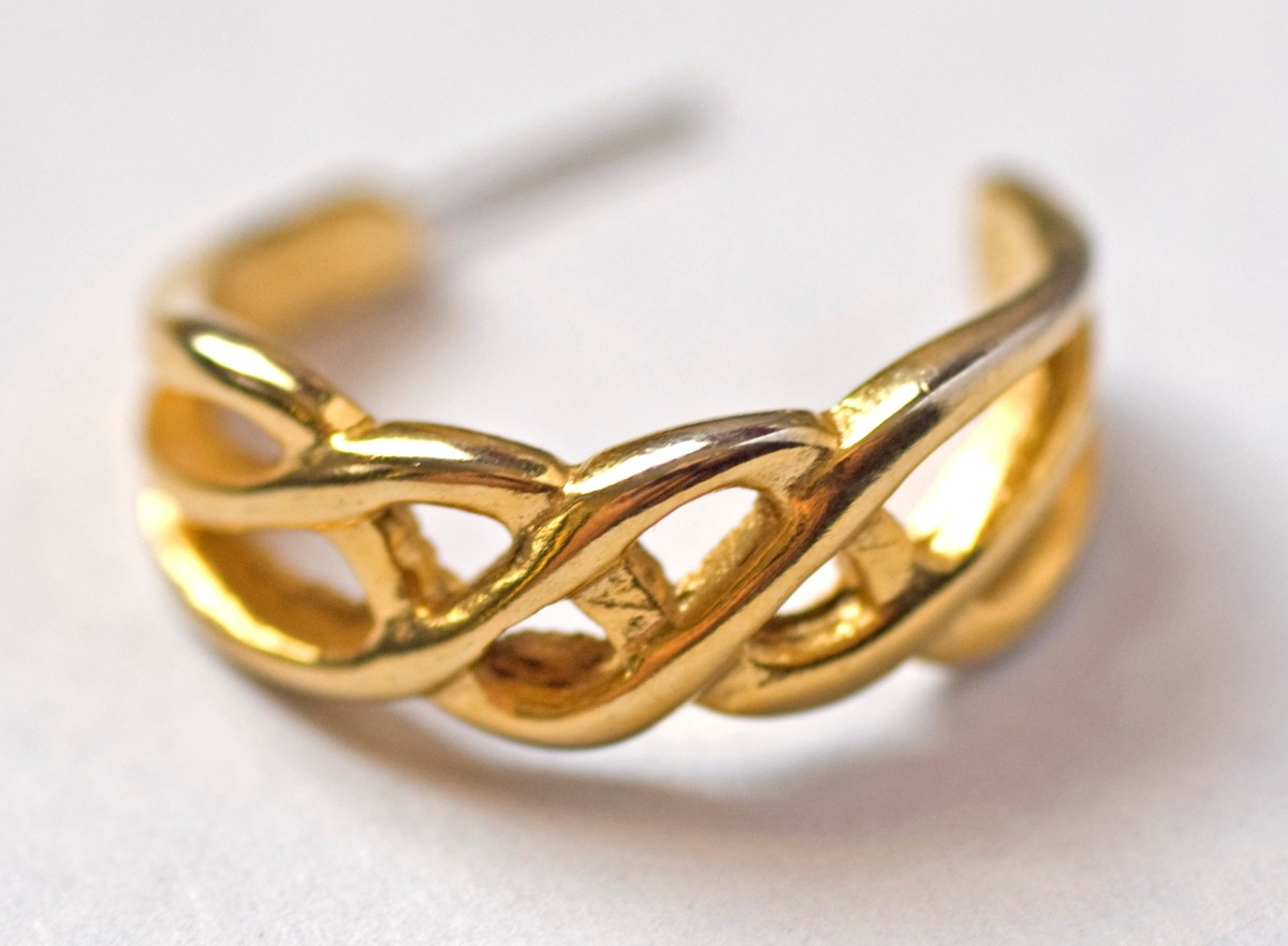 Simulated gold earring