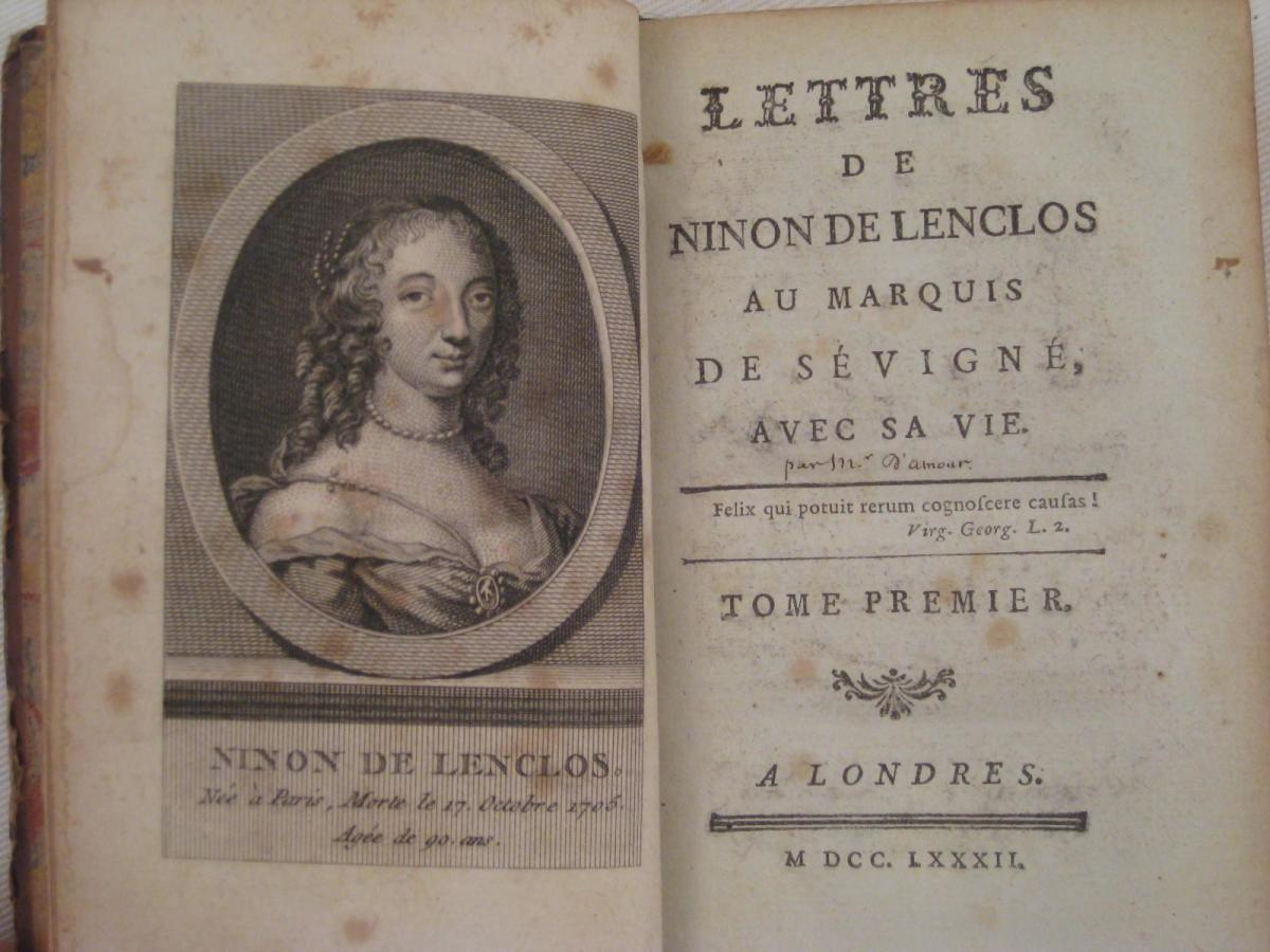 Ninon de l'Enclos first edition