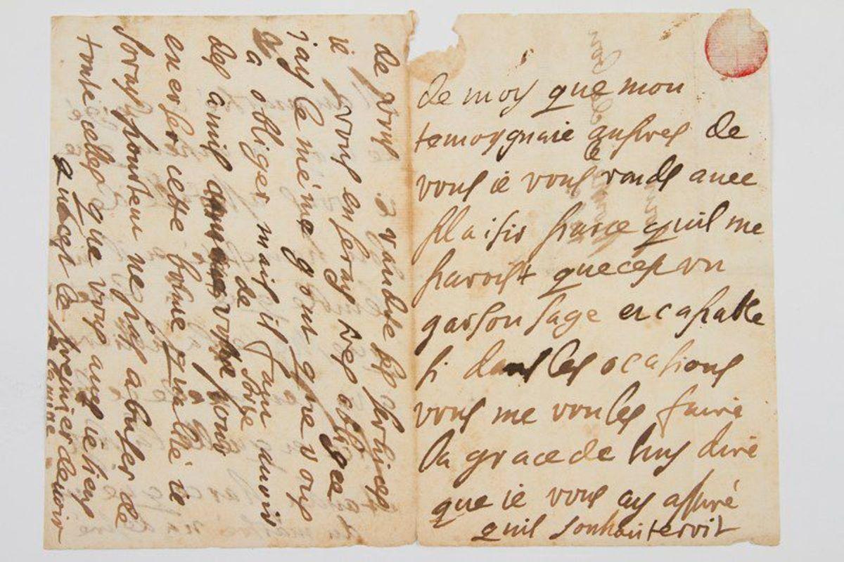Ninon del'Enclos handwriting
