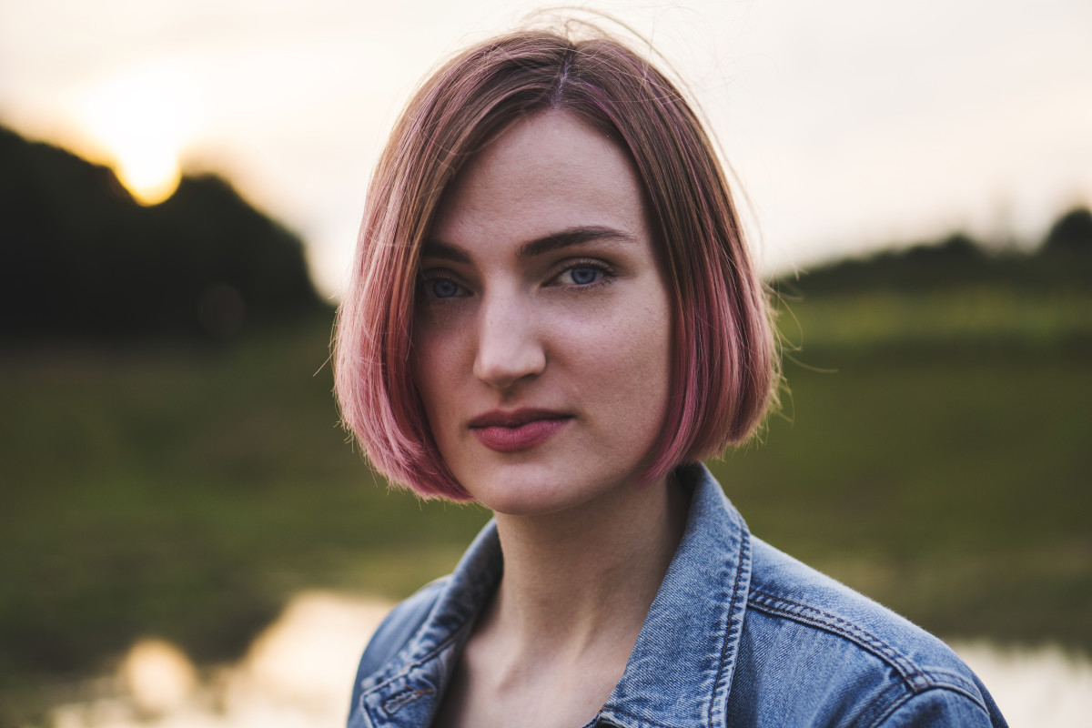 This chin-length bob with subtle layers adds volume to thin hair.