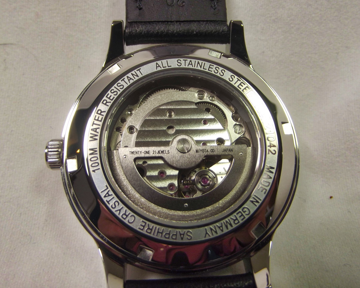 The TUW Ruhla 1892 Automatik is equipped with a Miyota 8219.  Some versions come with a Miyota 9100 movement