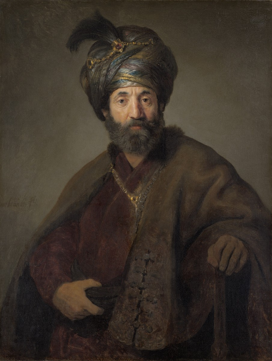 European man wearing a turban.