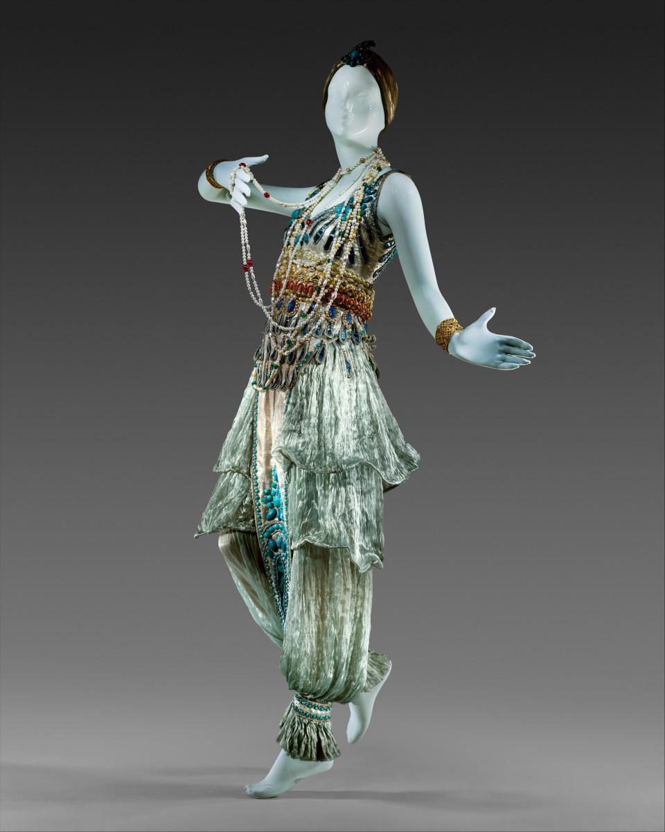 Paul Poirot's design based on harem costume at  the Metropolitan Museum of Art in New York