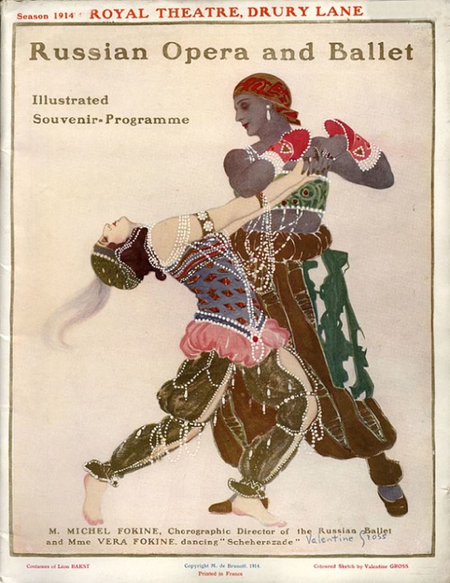 Poster for 1914's Scheherezade; costumes designed by Leon Bakst