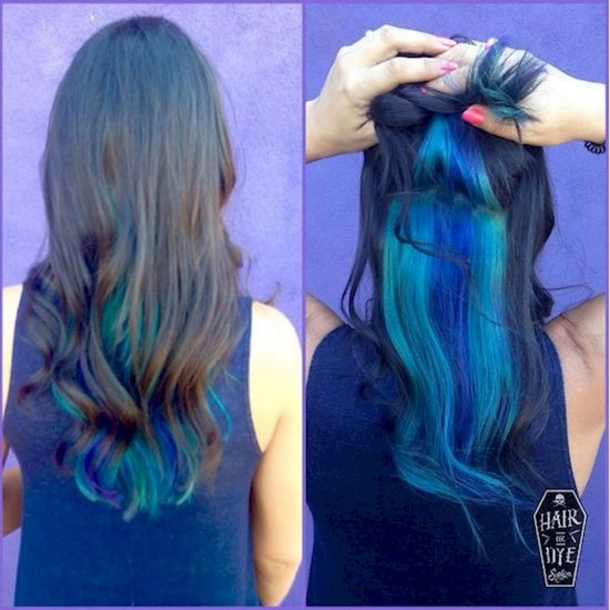Hair Diy Five Ideas For Blue Hair And How To Do Them At