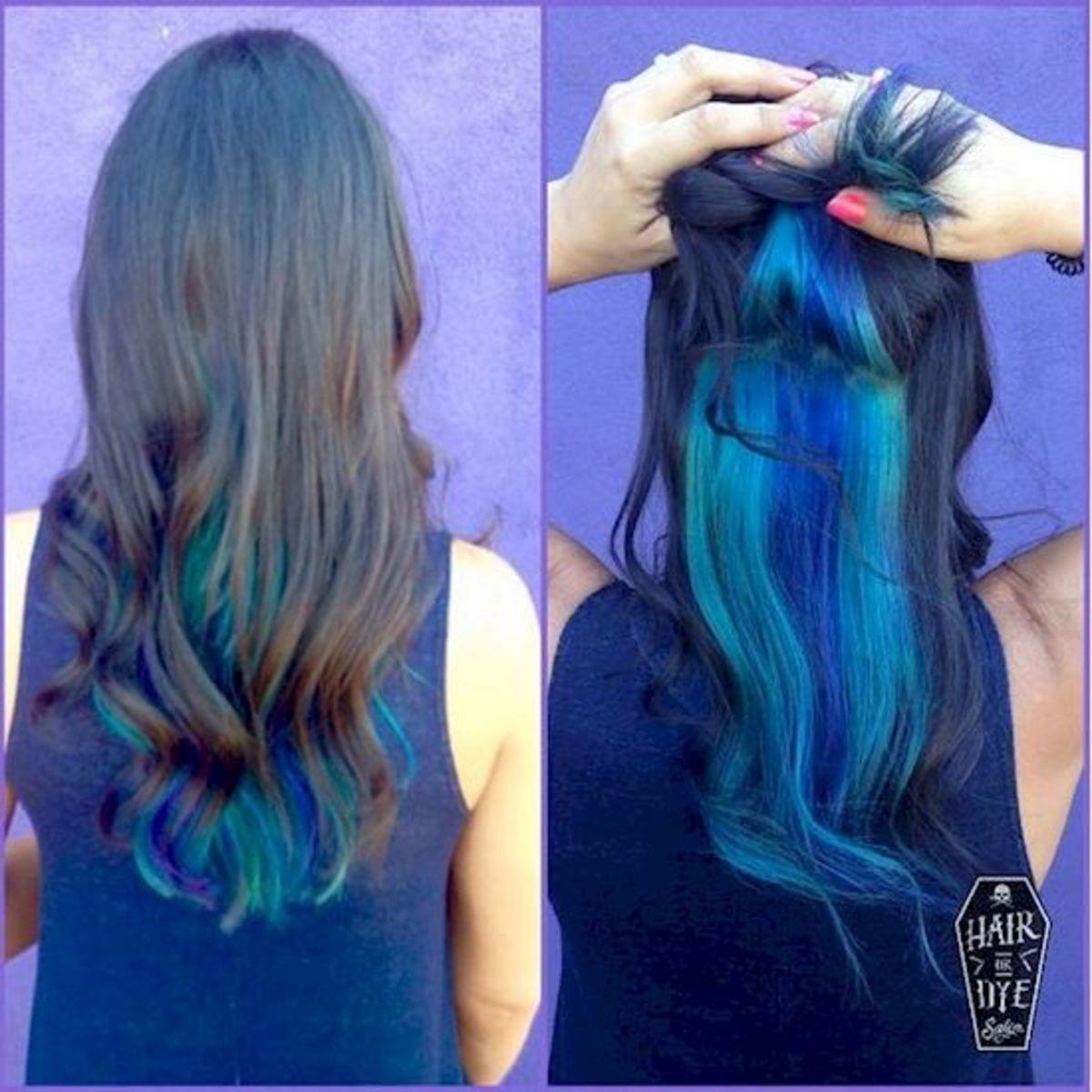 Hidden blue hair