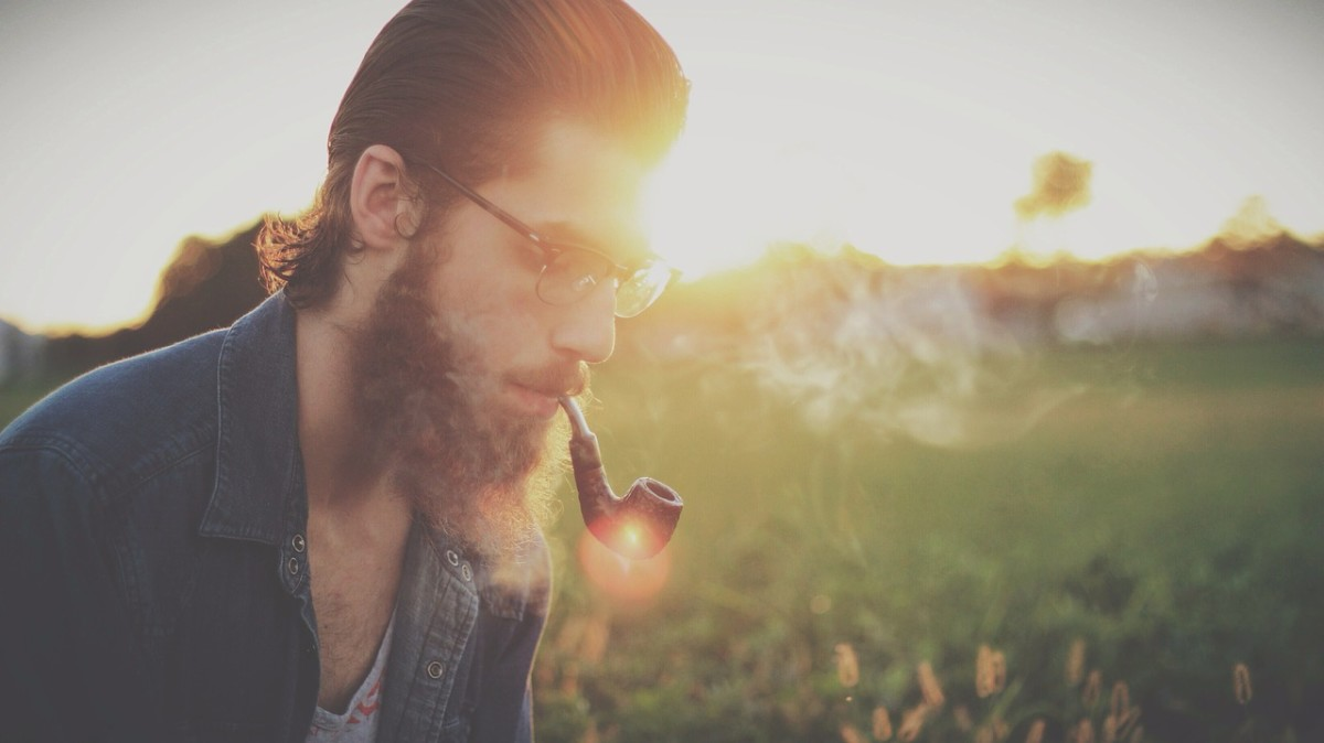 Beards can make you look smarter than you actually are, especially if you add a hipster pipe.