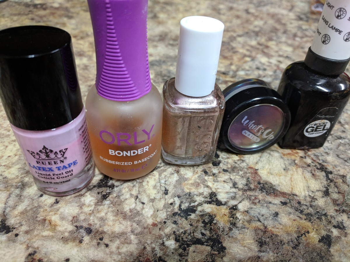 Here's everything I used to create these nails!