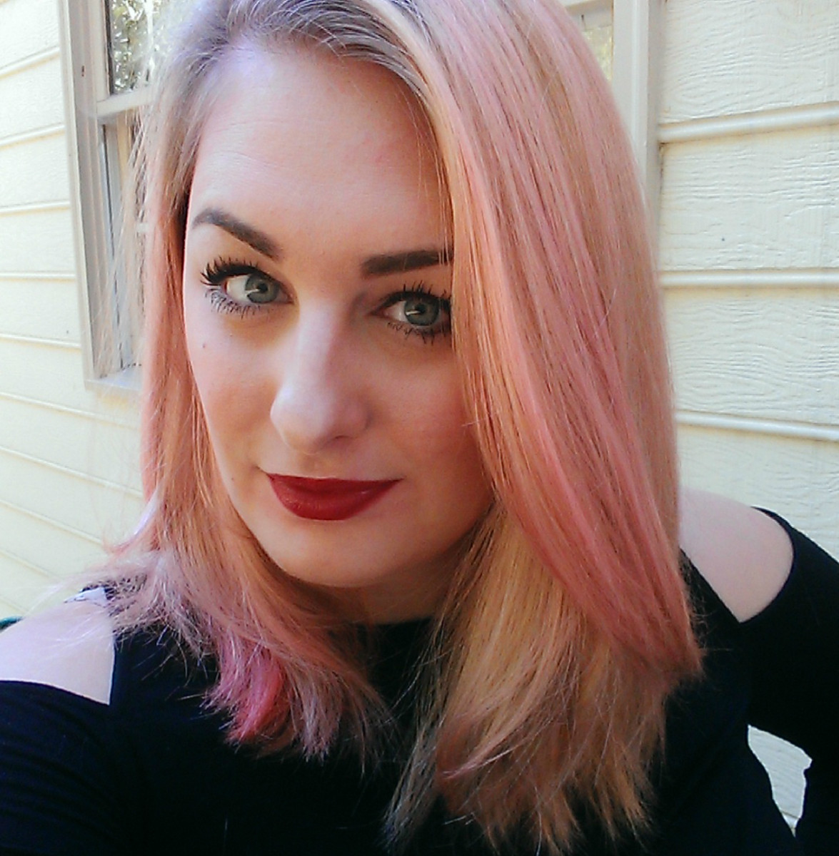 Pink dye with conditioner is a great way to maintain pink hair.