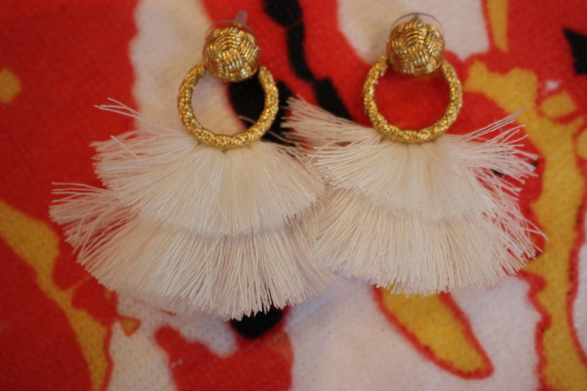 For Love and Lemons Fringe Hoop Earrings