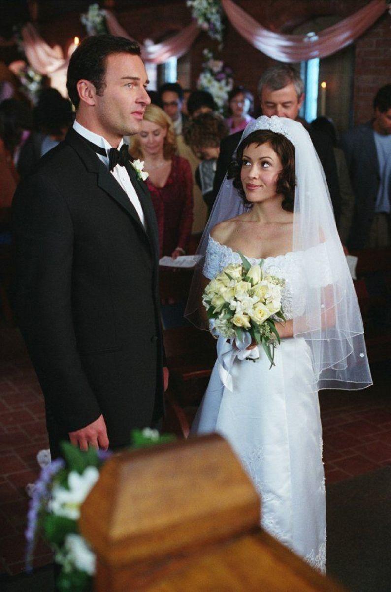 Classically elegant wedding gown.