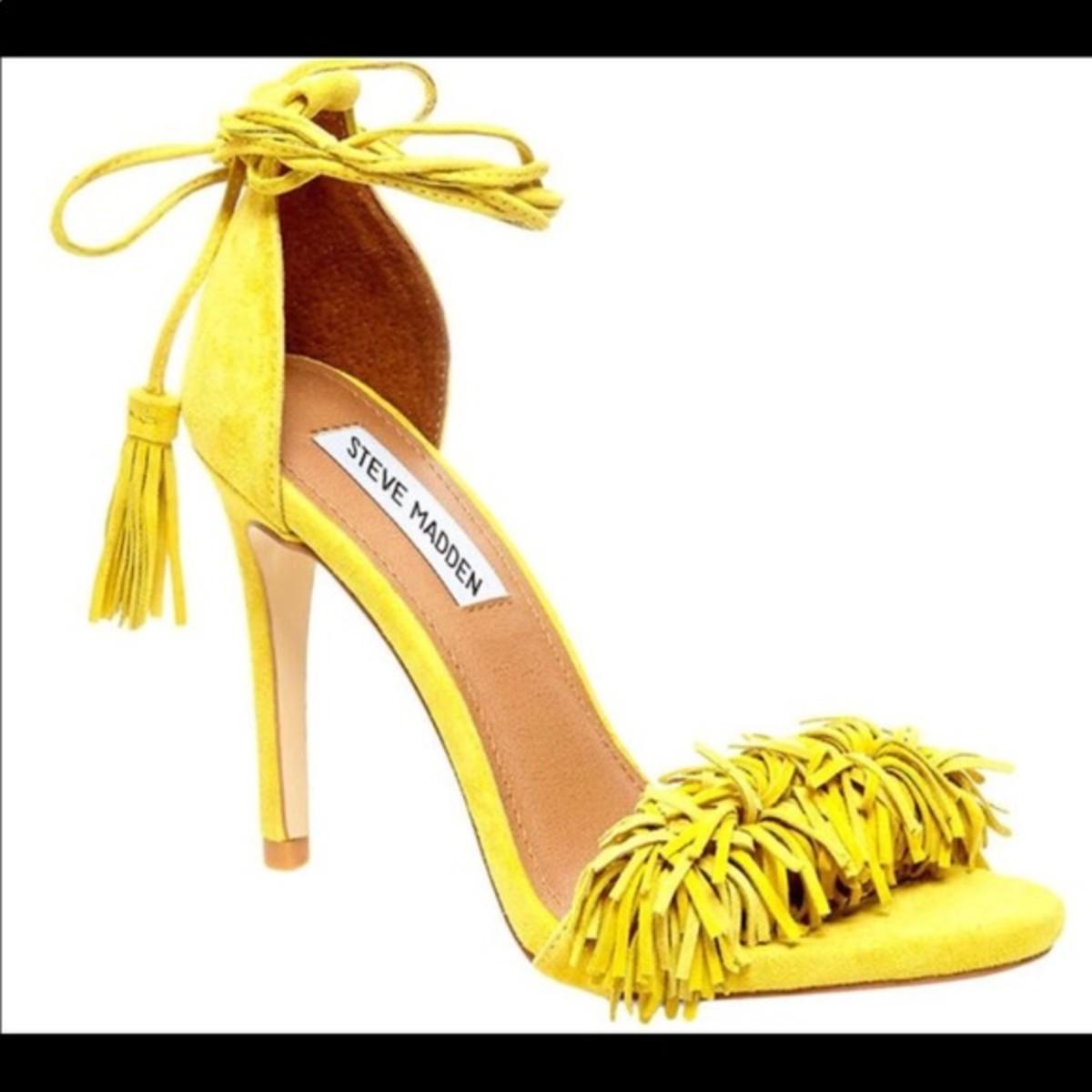 Fringe Lace-Up Heels