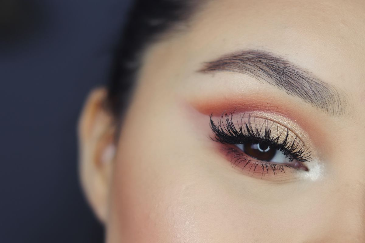 This is an example of a great close-up shot after using eye makeup.