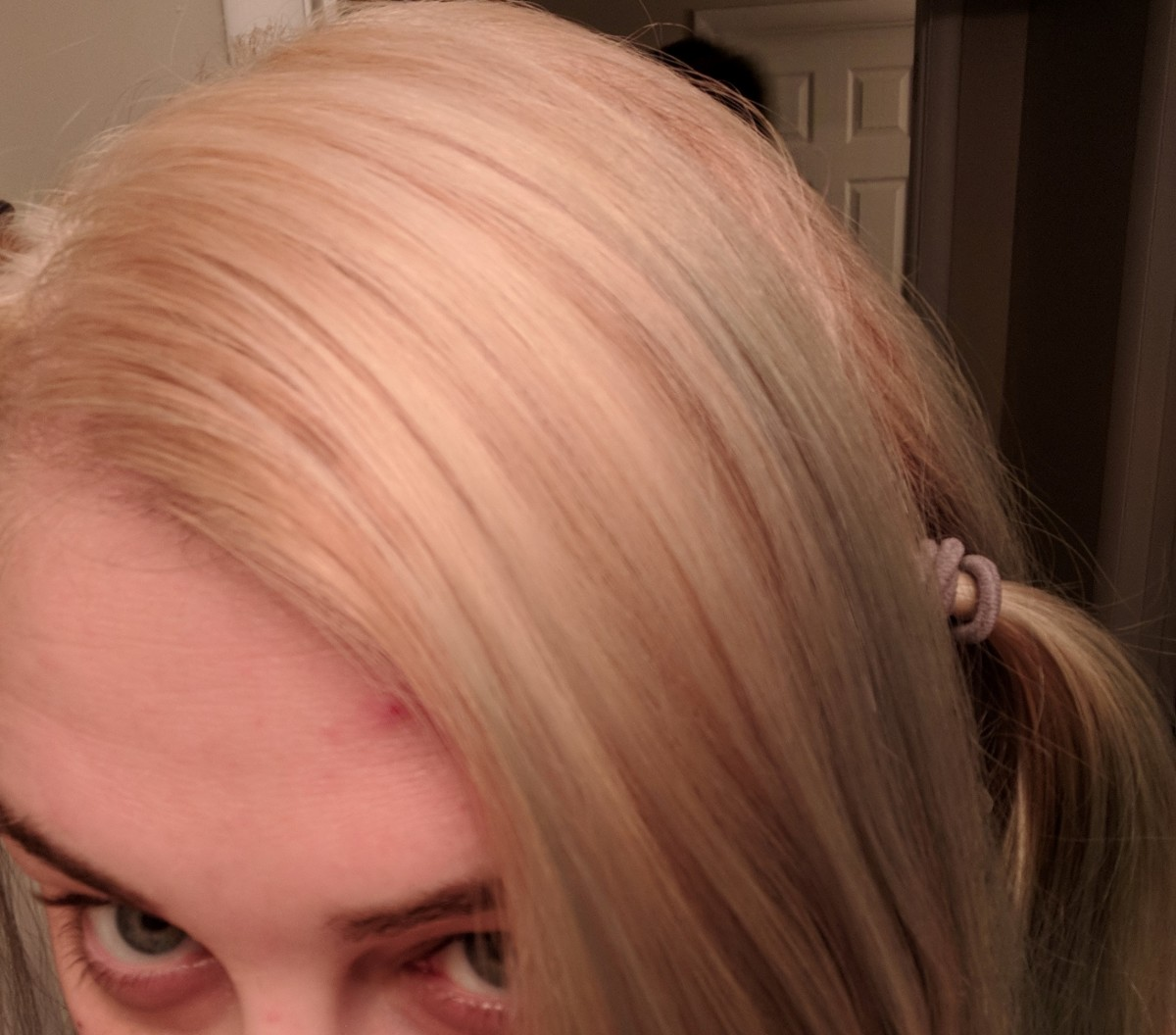 Here's my results after I lightened just my roots.