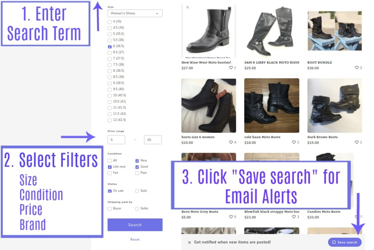 How to create an Email Alert on Mercari