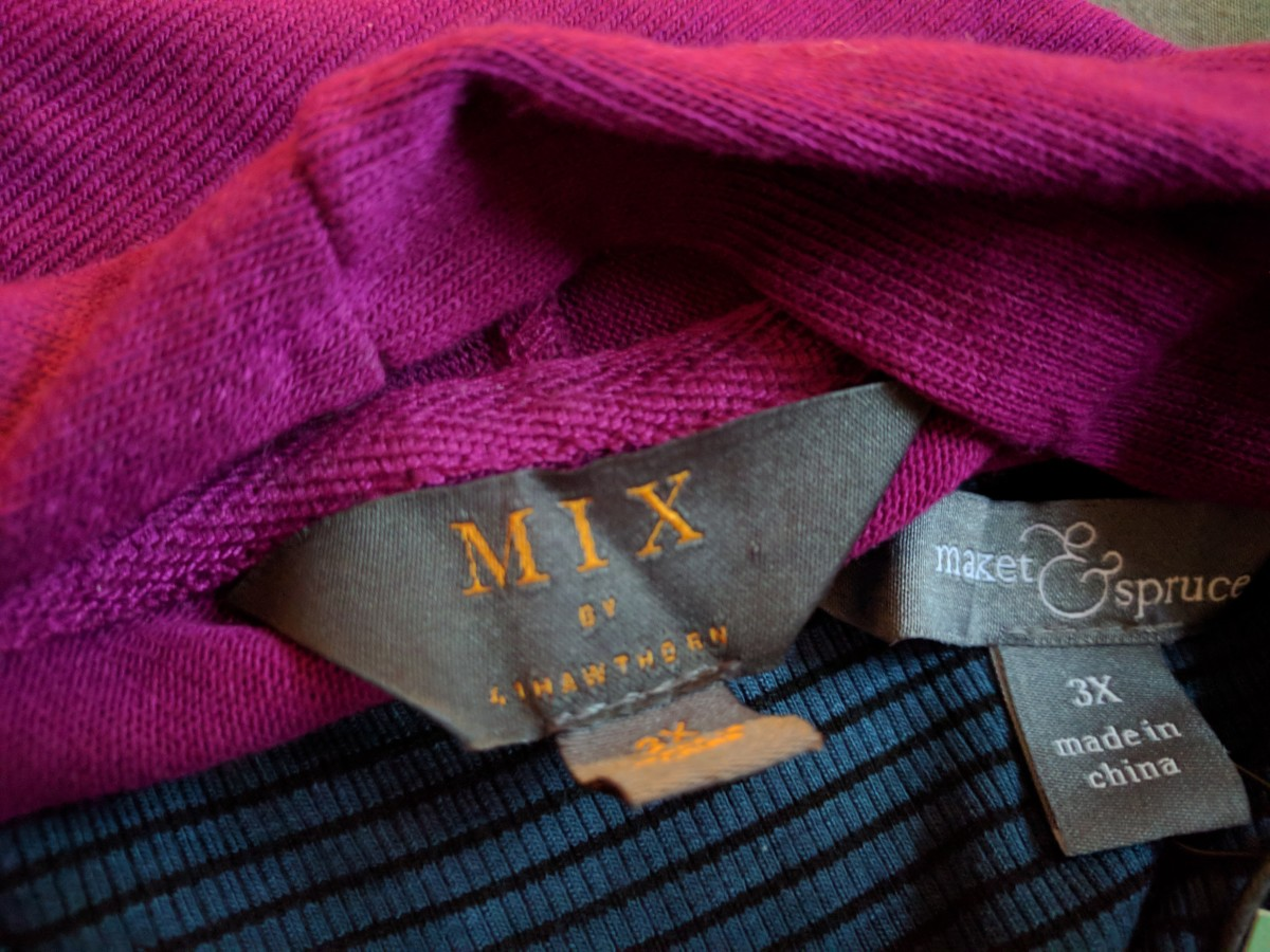Here are two of the brands I got in my latest Stitch Fix box, Mix and Market & Spruce
