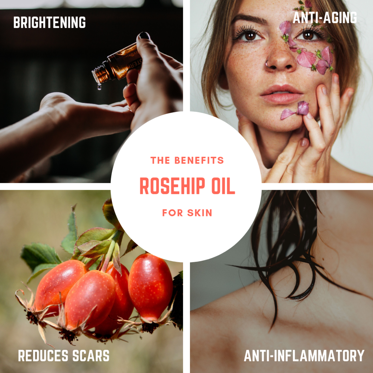 Rosehip oil offers many benefits and is all-natural.