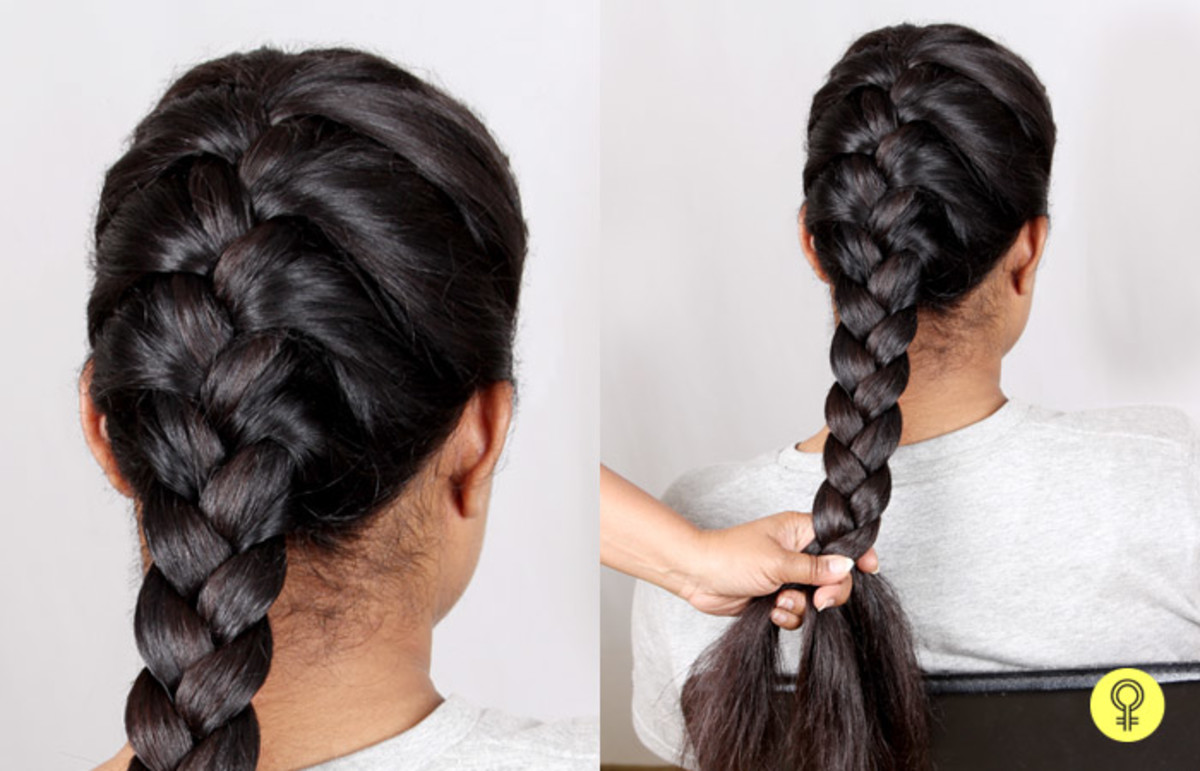 Braiding your hair before sleeping can help you avoid morning frizz.