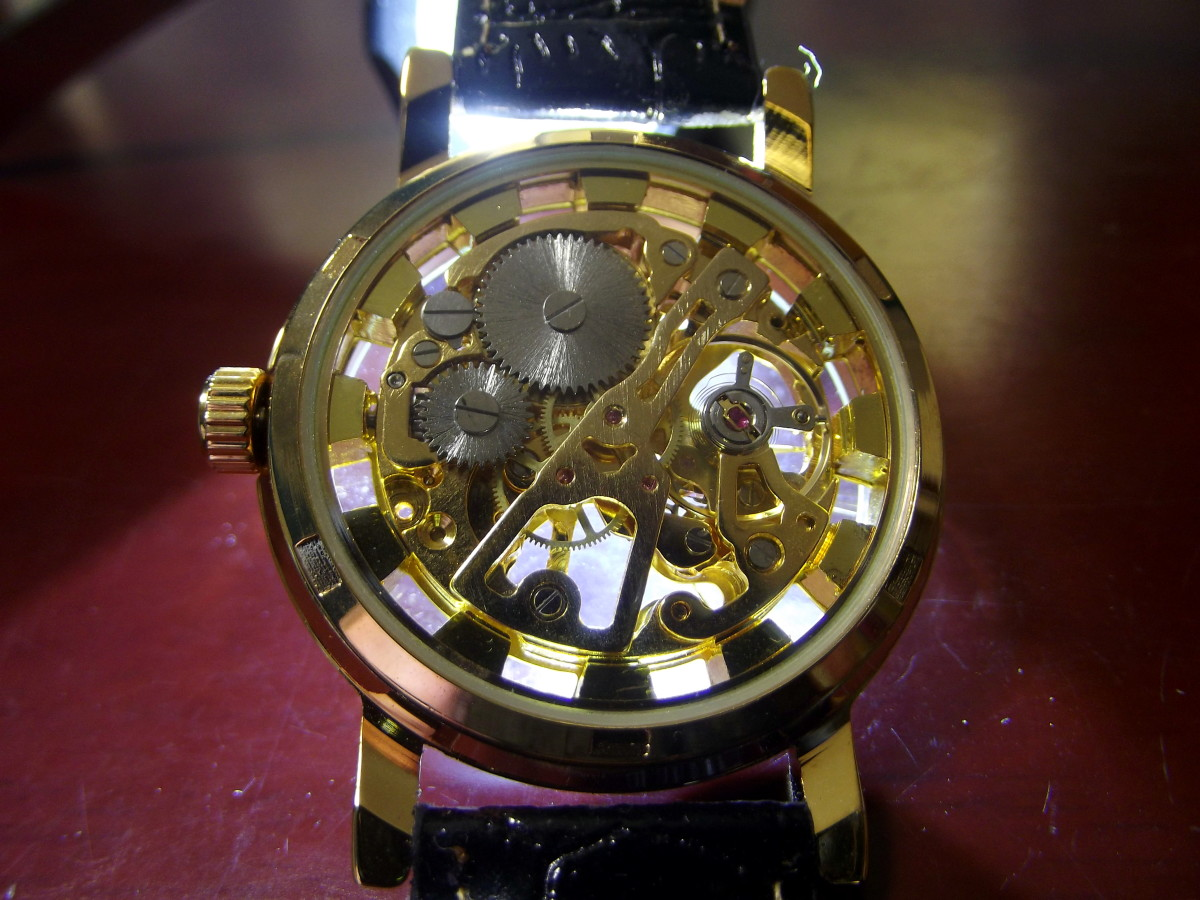 View of back of Sandwood Jushidai Mechanical Watch