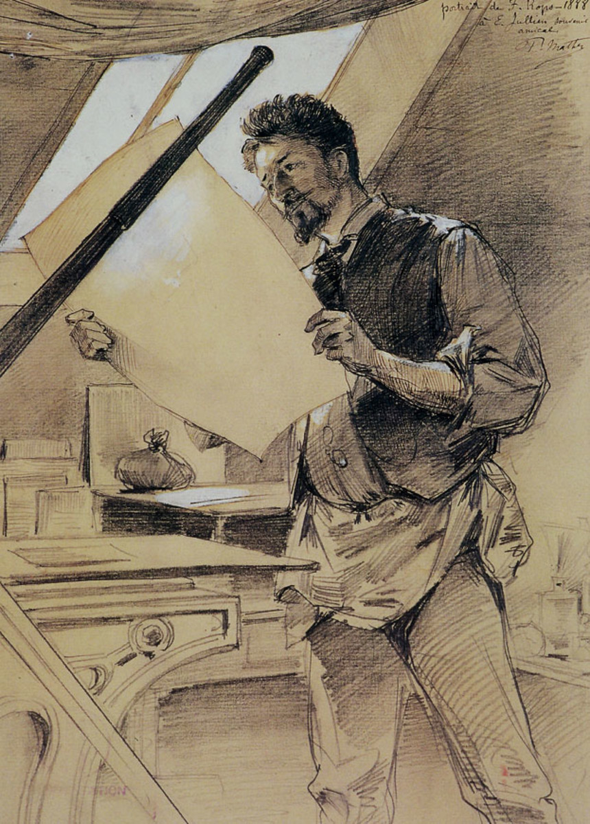 1888 a man at work wering a vest