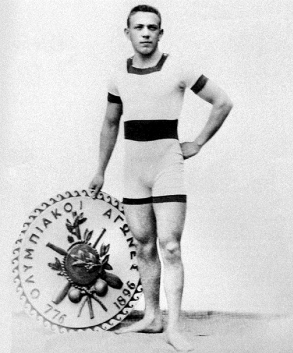 1896 men's swimwear worn by Alfred Hajos at the Olympic games