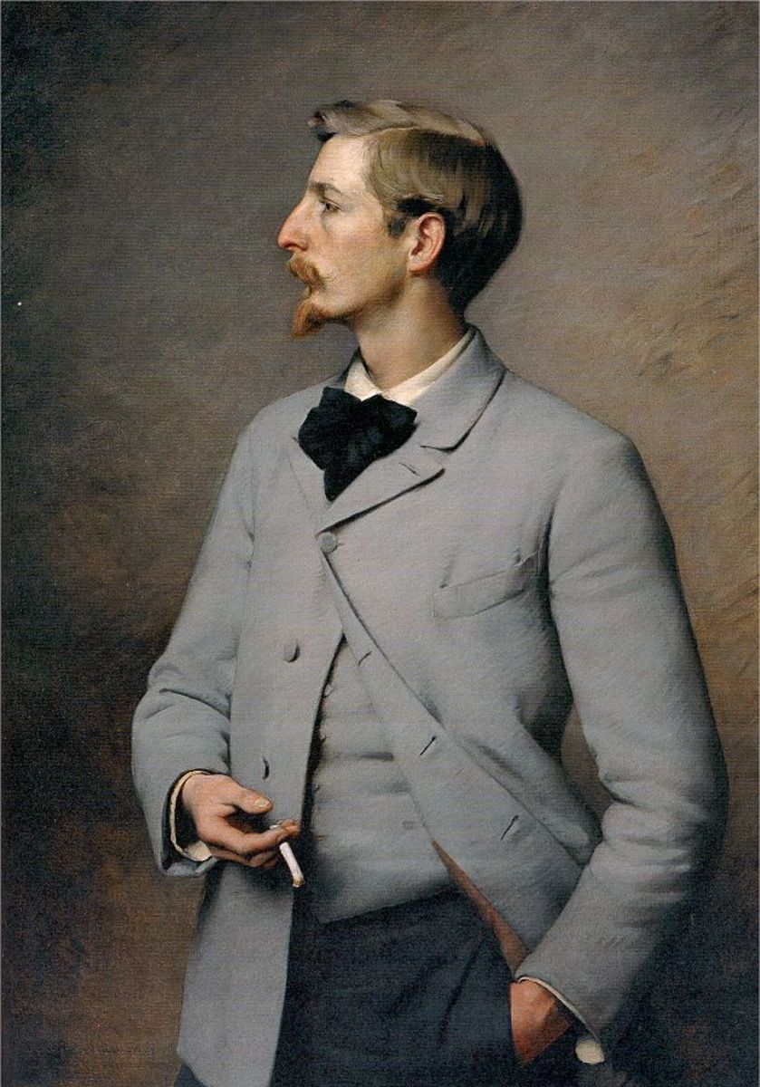 Van Dyke facial hair in the early 1890s.