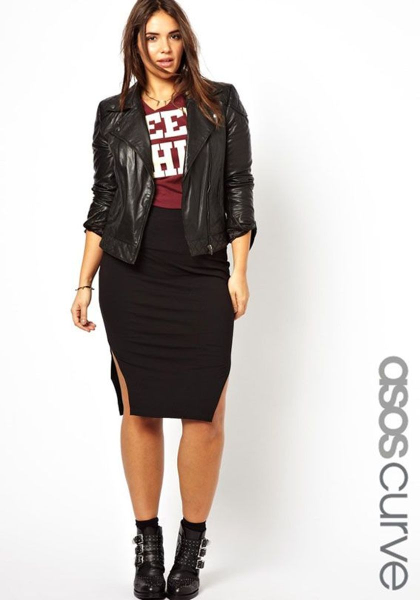 ASOS offers plus-size clothing for sizes 14-32.