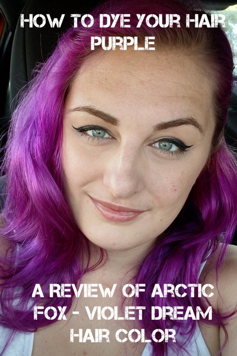 如何染发紫色:北极狐紫罗兰色梦半永久染发剂的评论