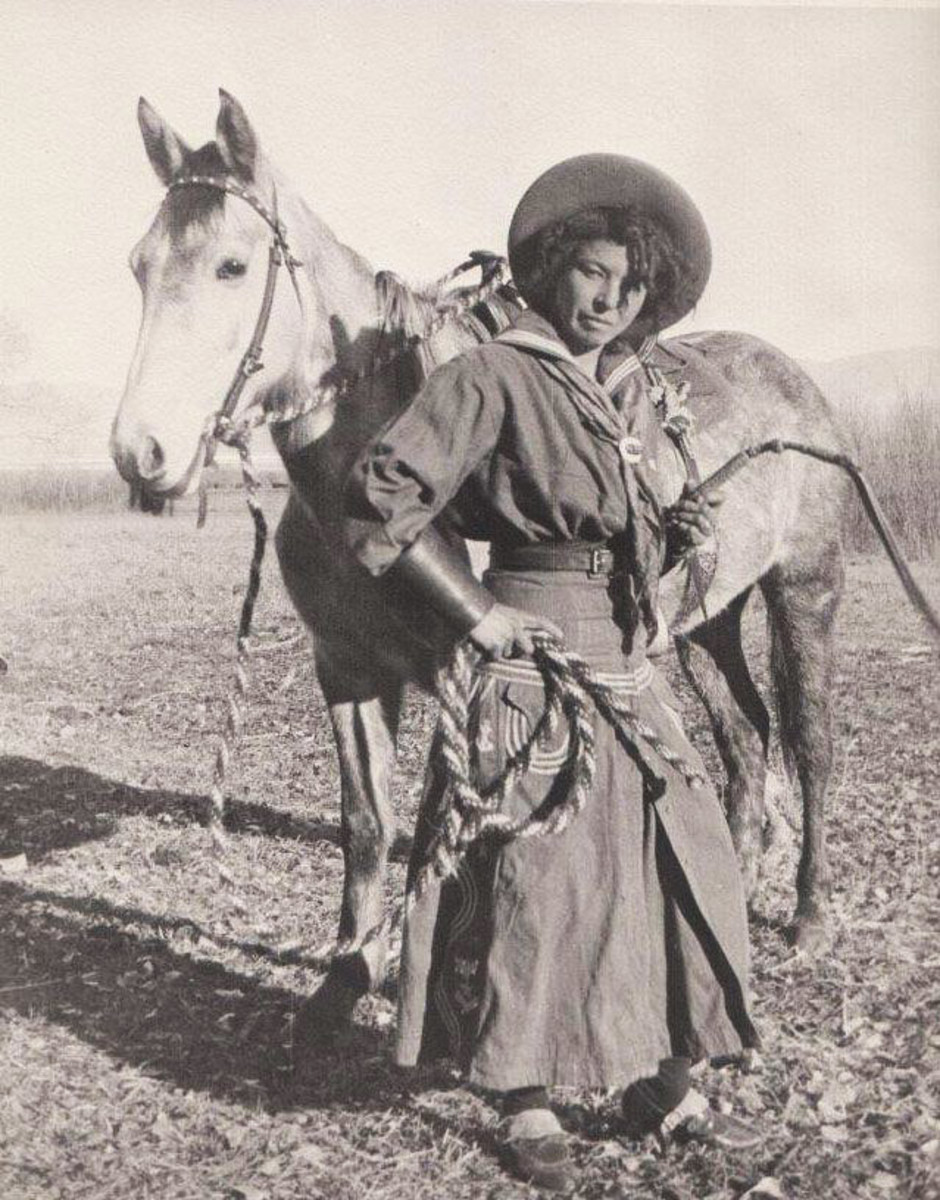 Nellie Brown, an African American cowgirl.