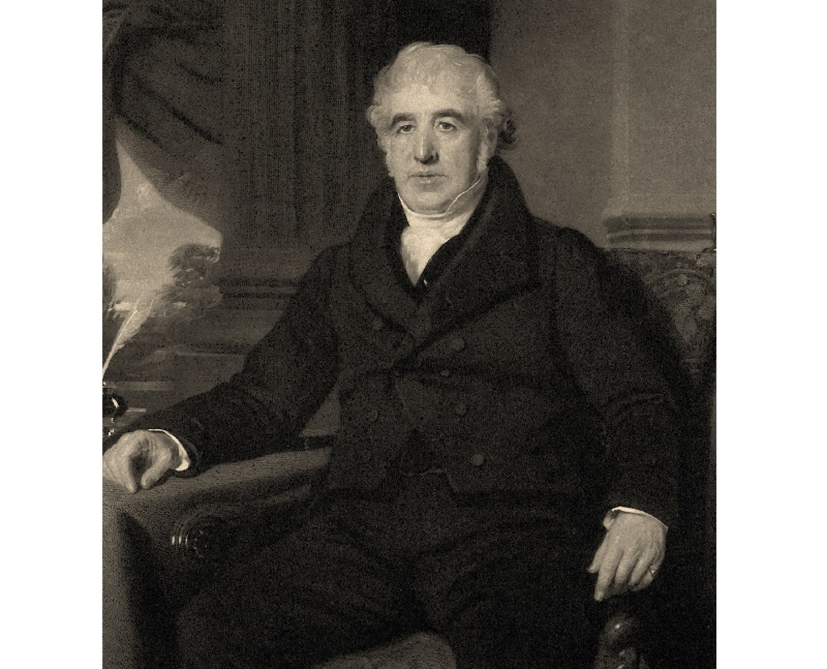 Portrait of Charles Macintosh, inventor and industrial chemist.