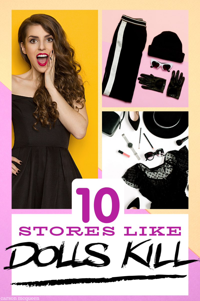 Stores Like Dolls Kill that offer trendy, edgy, and bold fashion pieces.