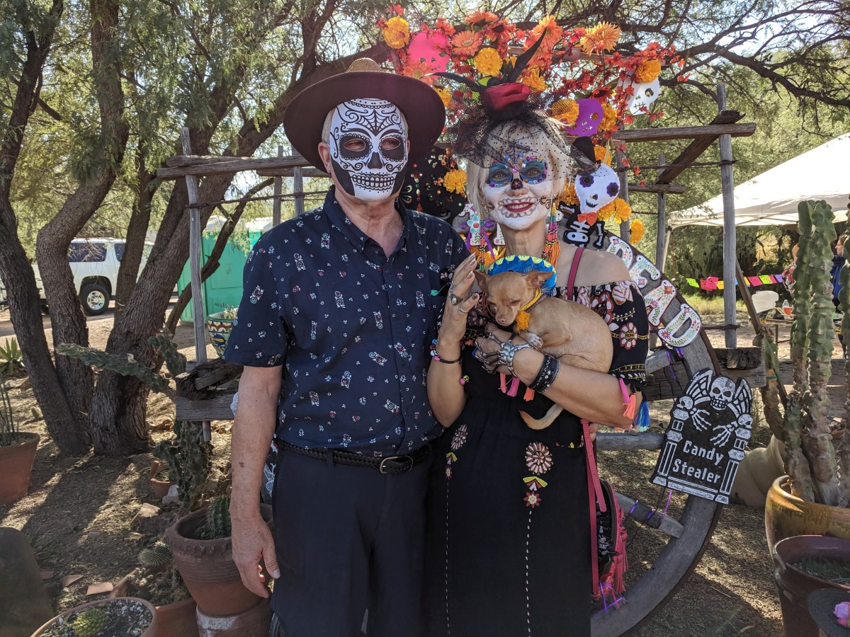 My wife and I at an All Souls' Day/Dia de los Muertos festival in Tubac, AZ