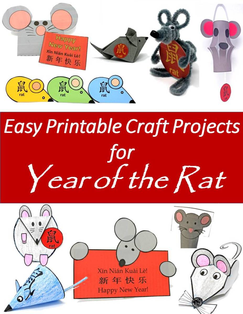Here are some fun and easy craft projects for kids pertaining to the Year of the Rat in the Chinese zodiac.