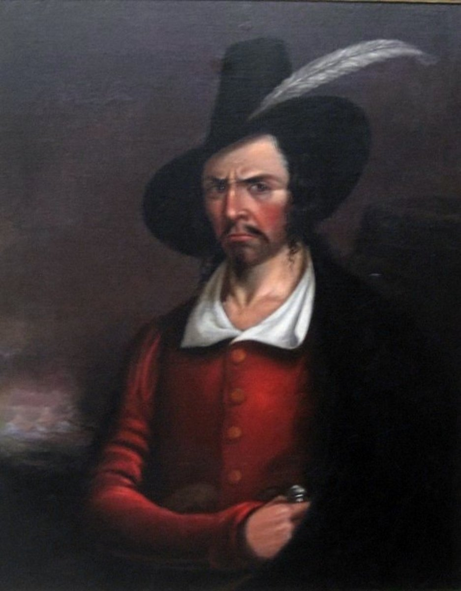 The scowling man in this portrait is thought to be Jean Lafitte.