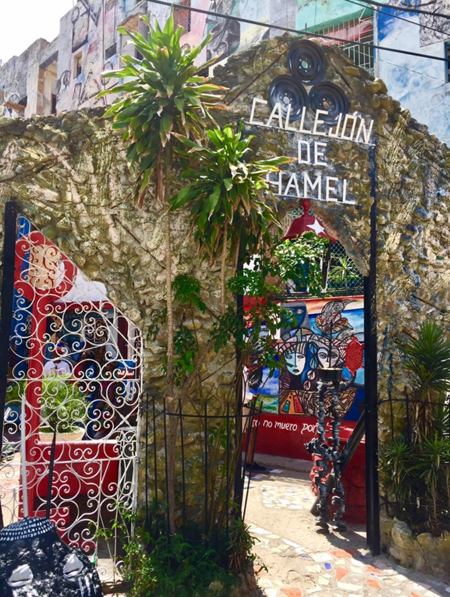 Callejón de Hamel—a shrine to Afro-Cuban culture in Centro Havana—is full of colorful street art, sculptures and music.