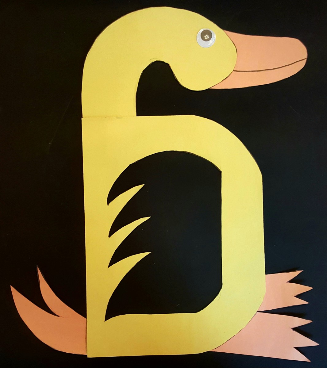 """D"" Is for Duck (Alphabet Paper Craft for Kids)"