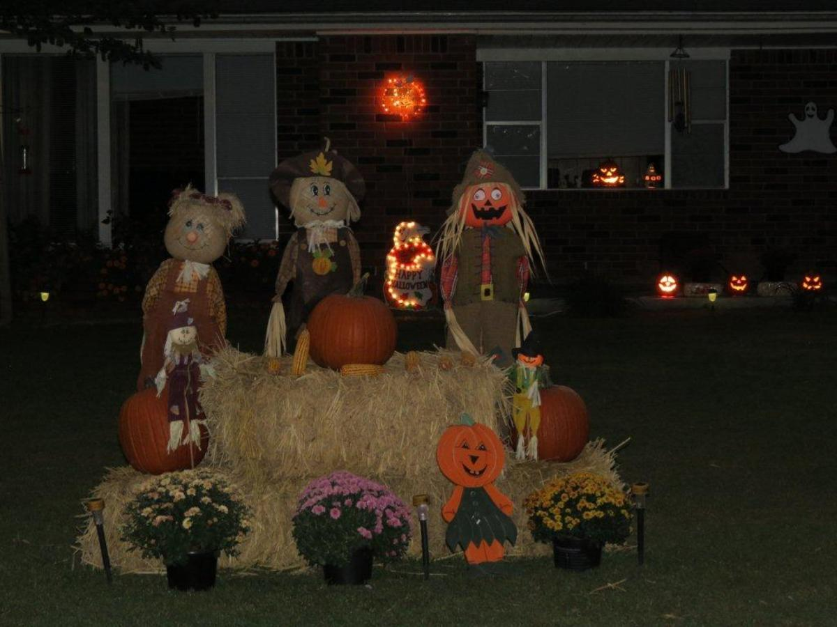 This is the decoration my son Jackie had in front of his house two years ago.
