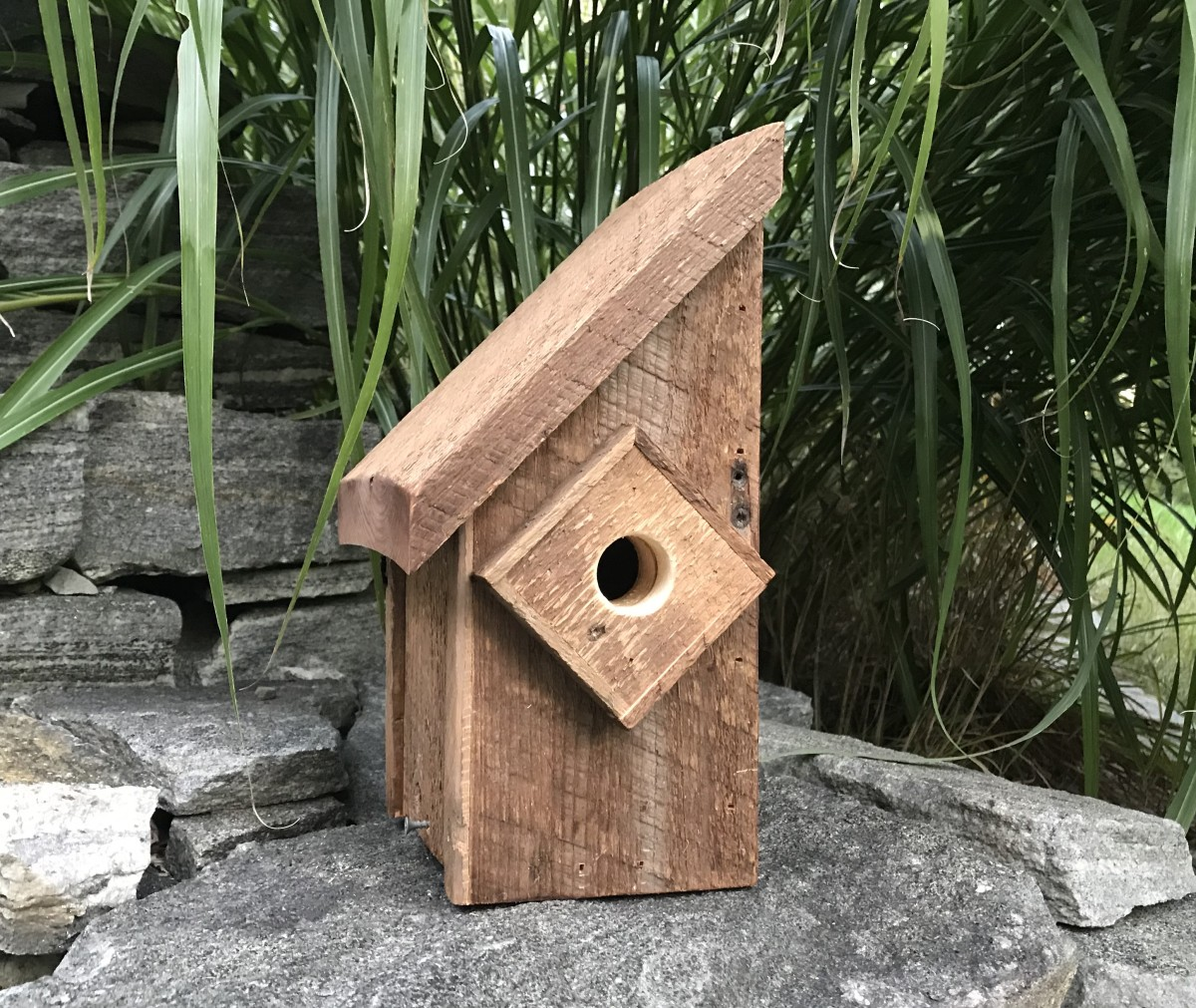 This barn wood birdhouse is made for the birds!