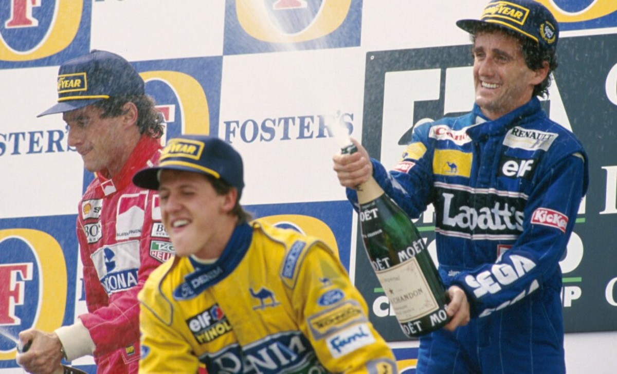 Ayrton Senna, Alain Prost and Michael Schumacher together | 1993 Spanish GP