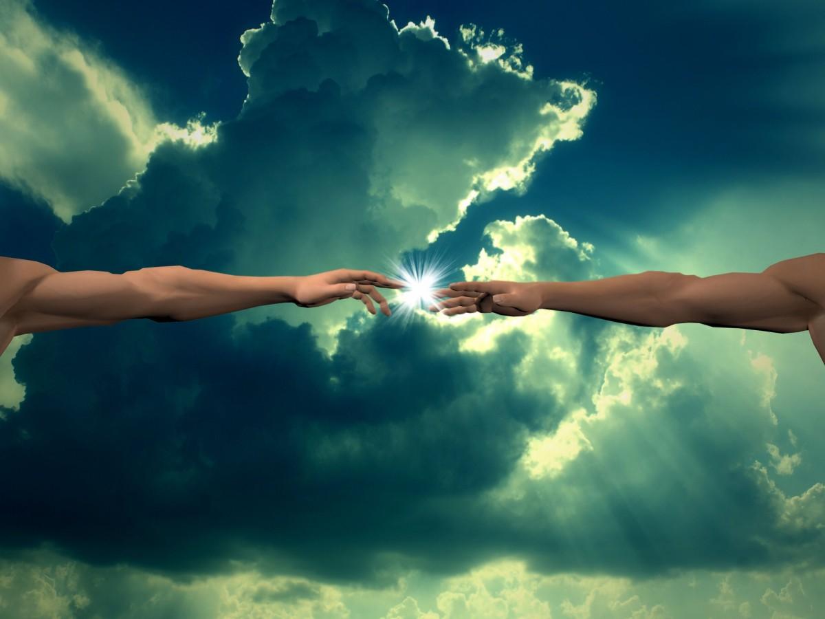 God touching mankind