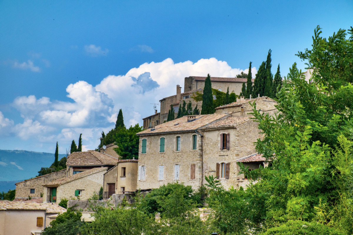Scenic View of Lurs, France