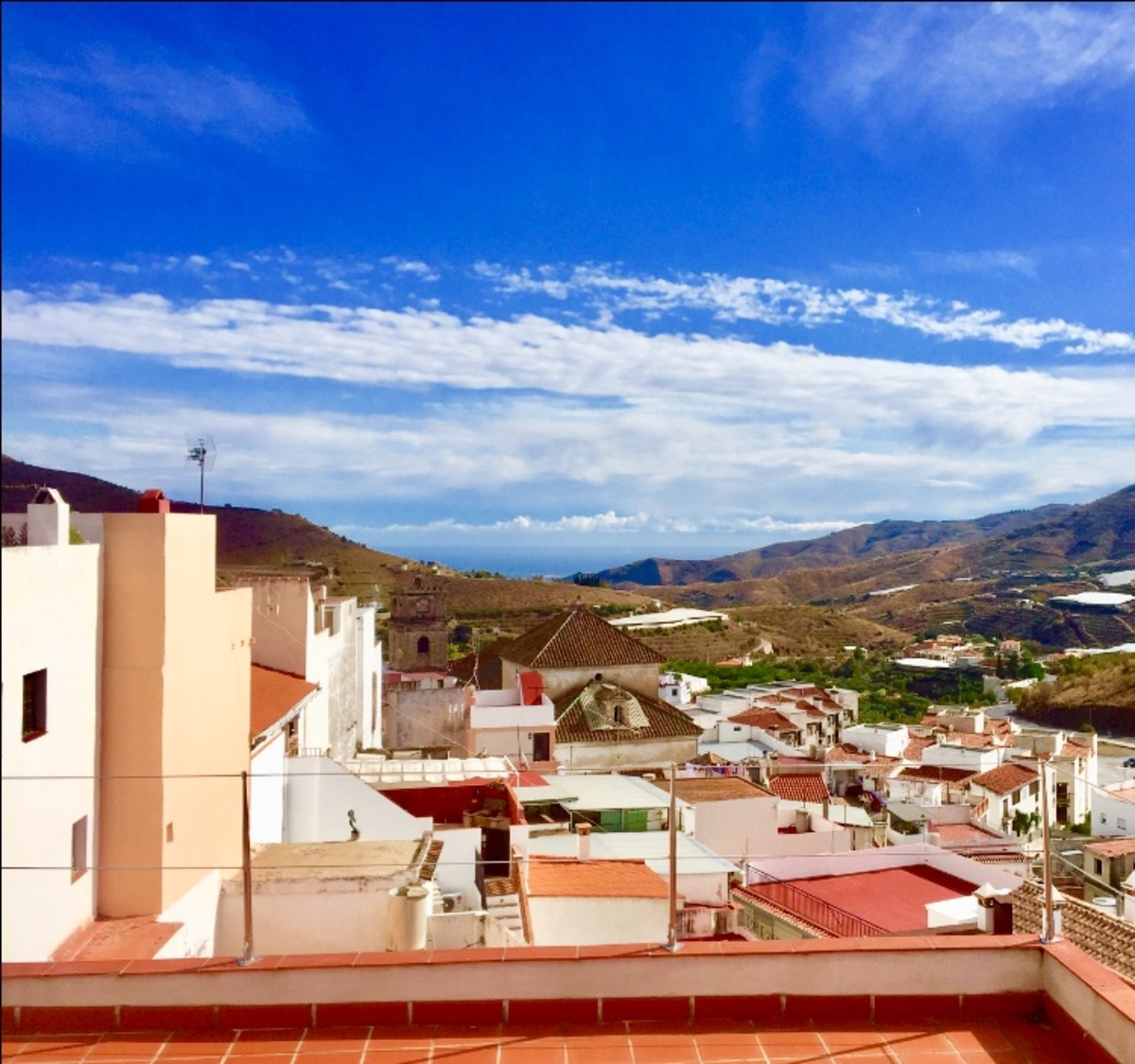 Views of the Coast and the Mediterranean  From the Andalusian Village of Ítrabo