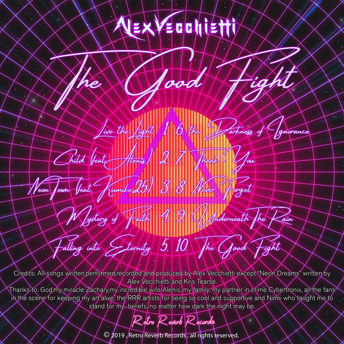 "Alex Vecchietti's new album ""The Good Fight"" is filled with incredible guitar playing."