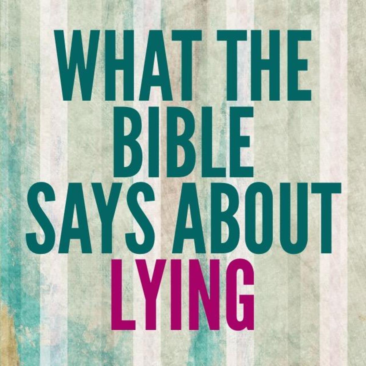 What the Bible Says About Lying