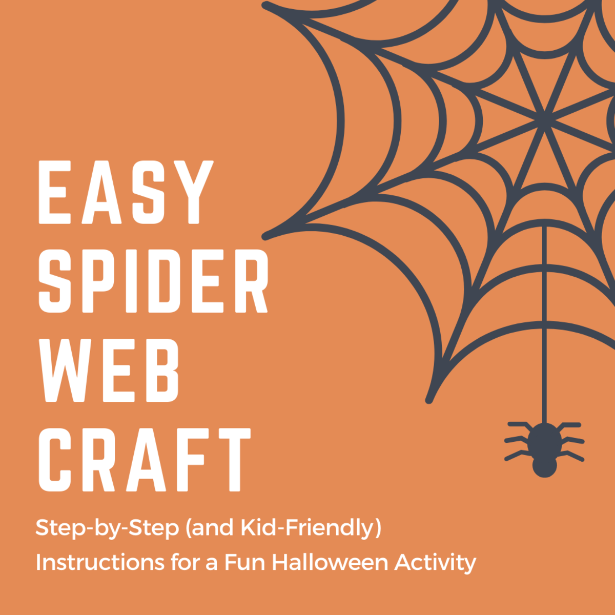 If you just have a few simple craft supplies, you can get into the Halloween spirit!