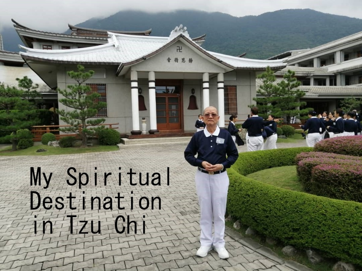 In front of Master's abode, Hualien, Taiwan.