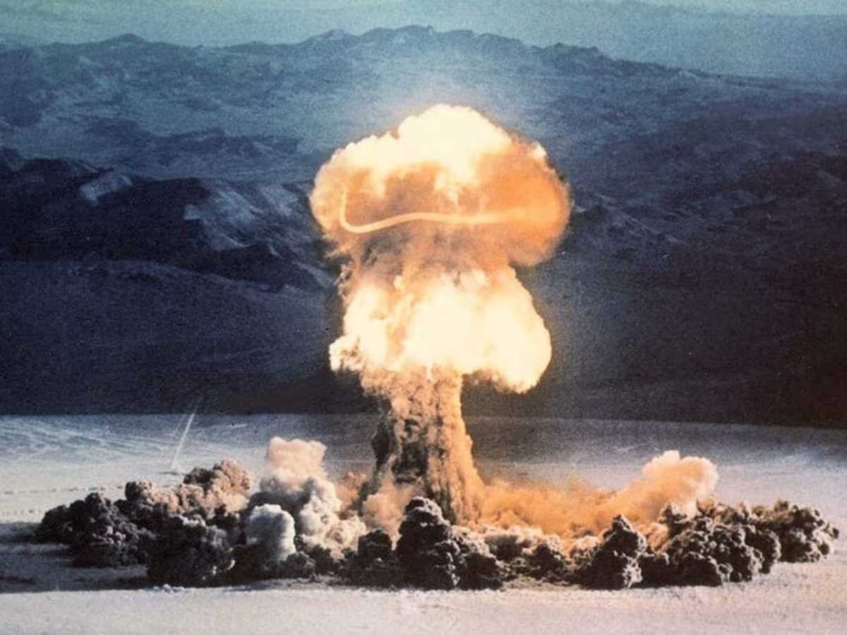 Operation Plumbbob nuclear test at the Nevada Test Site on June 24, 1957