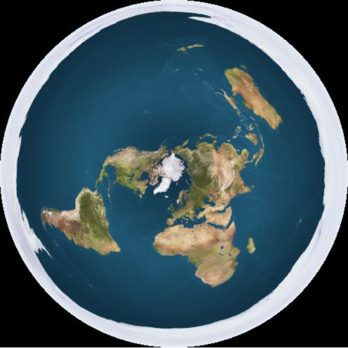 Many flat earthers believe that the earth is a flat area surrounded by an ice wall.