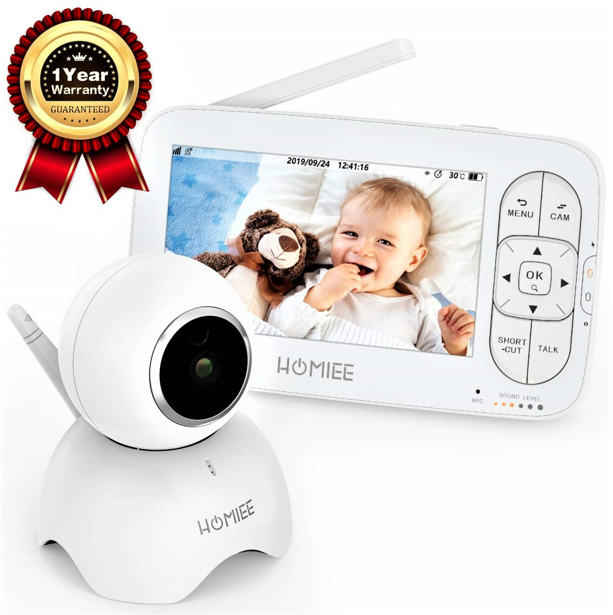 Updated Homiee Video Baby Monitor