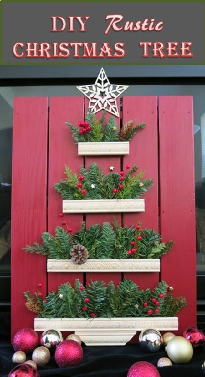 How to Make a Rustic Farmhouse Christmas Tree Display for Indoor or Outdoor Use